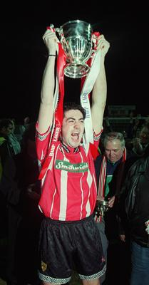 Peter Hutton with the Premier League Trophy in 1997