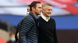 Ole Gunnar Solskjaer (right) and Frank Lampard had contrasting fortunes (Andy Rain/NMC Pool)