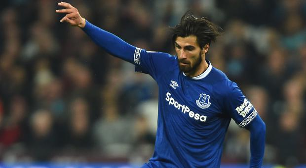 Everton midfielder Andre Gomes is due to step up his recovery from a serious ankle injury (Daniel Hambury/PA)