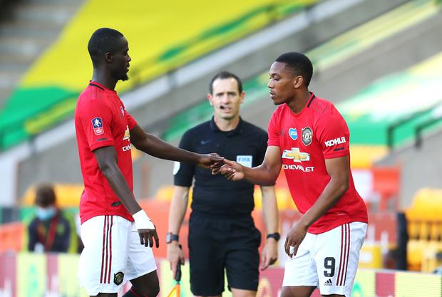Eric Bailly and Anthony Martial are out of Thursday's game (Catherine Ivill/NMC Pool)