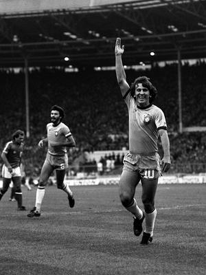 Zico (right) and Socrates, pictured at Wembley, were among the stars of the Brazil side of 1982 (PA Archive)
