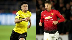 Jadon Sancho and Chris Smalling figure in today's football transfer gossip file (Adam Davy/Chris Radburn/PA)