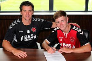 Rising star: Barry Baggley signs a pro deal with Fleetwood alongside Joey Barton last summer