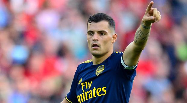 It remains to be seen if Granit Xhaka will remain as Arsenal captain following his outburst at supporters (Anthony Devlin/PA)