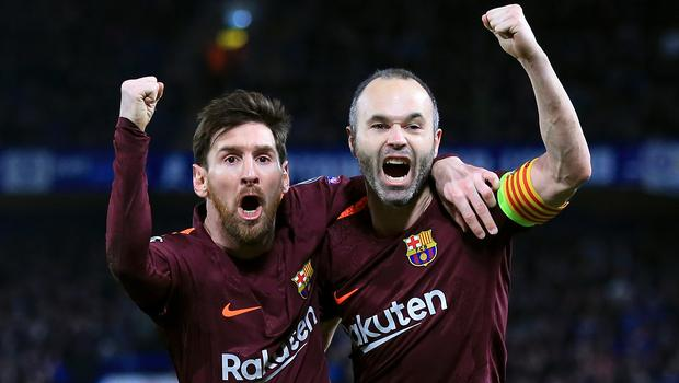 Andres Iniesta, right, will hope to be involved in his final Clasico (Nick Potts/PA)