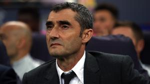 Barcelona coach Ernesto Valverde wants focus from this side in their Copa del Rey tie. (Nick Potts/PA Images)
