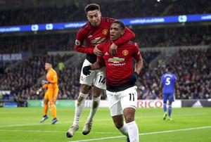 Anthony Martial, right, and Jesse Lingard will miss United's FA Cup clash against Chelsea on Monday (Nick Potts/PA)