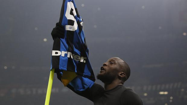 Romelu Lukaku wrapped up Inter Milan's comeback win against AC Milan (Antonio Calanni/AP)