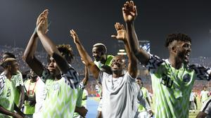 Nigeria celebrate their victory (Ariel Schalit/AP)
