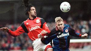 Jason Lee (left) now works for the PFA (Rui Viera/PA)