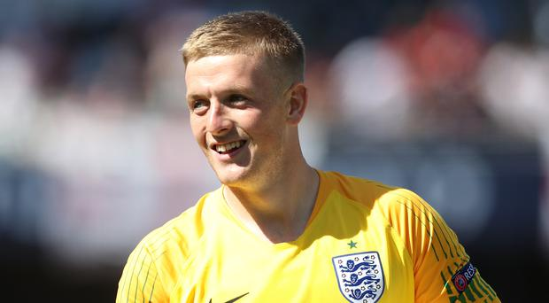 Jordan Pickford has competition for an England starting berth (Tim Goode/PA)