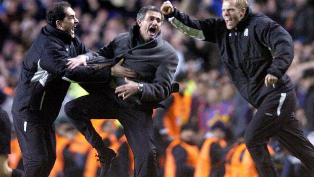 Jose Mourinho's Chelsea knocked out mighty Barcelona in 2005 (Rebecca Naden/PA)