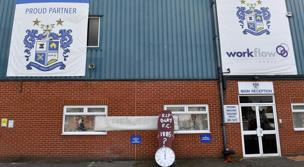 Bury were expelled from the EFL in late August (Dave Howarth/PA)