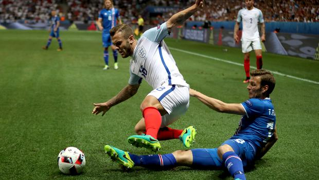 Jack Wilshere's last England appearance came against Iceland at Euro 2016