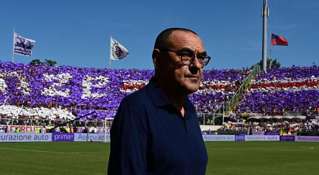 Maurizio Sarri saw his Juventus side frustrated by Fiorentina (Claudio Giovannini/AP)