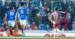 Alston scores for St Johnstone at Rangers (Ian Rutherford/PA)