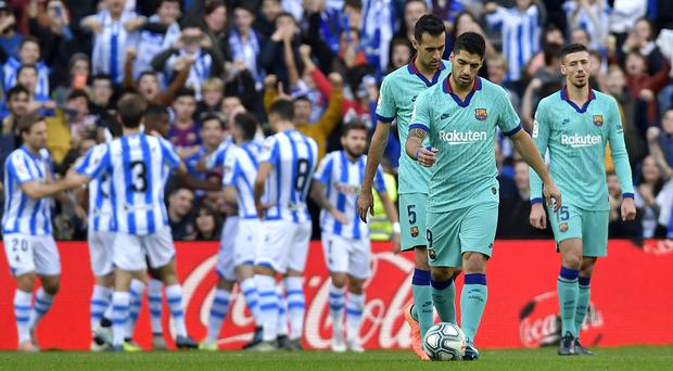 Barcelona had to be content with a point at the Reale Arena (Alvaro Barrientos/AP)