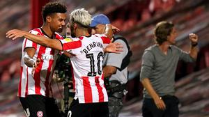 Brentford's Ollie Watkins (left) and Said Benrahma have been linked with Premier League clubs (John Walton/PA).