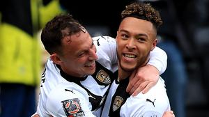 Kyle Wootton (right) scored twice for Notts County (Mike Egerton/PA)