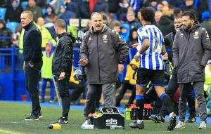 Carlos Corberan, right, is expected to become Huddersfield's new manager (Danny Lawson/PA)