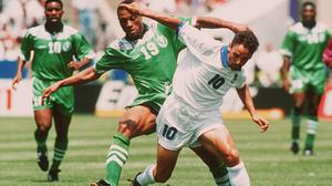 Roberto Baggio, right, was a star of the 1994 World Cup (PA Archive)