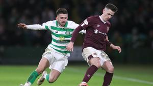 Celtic and Hearts go head to head in today's Scottish Cup final (Jane Barlow/PA)