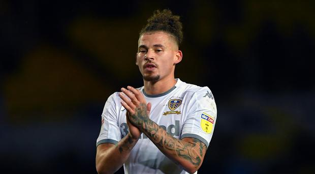 Leeds' Kalvin Phillips returns from suspension for the visit of Hull. (Dave Howarth/PA)