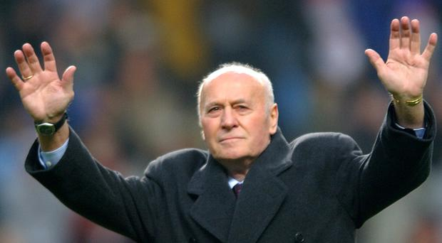 Ron Saunders managed Aston Villa from 1974-82. The club confirmed his death, aged 87 (Rui Vieira/PA)