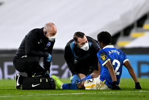 Brighton defender Tariq Lamptey has been sidelined by a hamstring problem (Mike Hewitt/PA)
