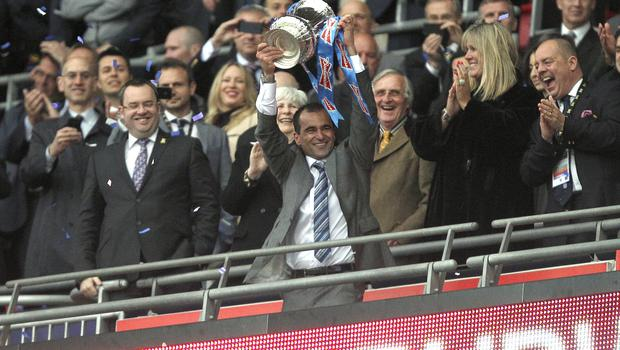 Roberto Martinez lifted the 2013 FA Cup as Wigan manager