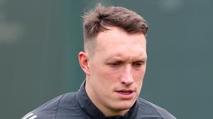 Twitter has apologised for a tweet about Phil Jones, pictured (PA)