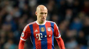 Arjen Robben is planning to come out of retirement (Martin Rickett/PA)