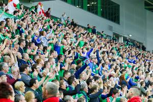 The Amalgamation of Official Northern Ireland Supporters Clubs want the fans to create a 'Sea of Green' in Nice for Sunday's opening Euro match with Poland. They will distribute 8,000 flags and will organise face painting at the Northern Ireland fans' Embassy at Brasserie des Ponchettes 3, Place Charles Felix in the Cours Saleya area. Get along, go green and enjoy the fun.