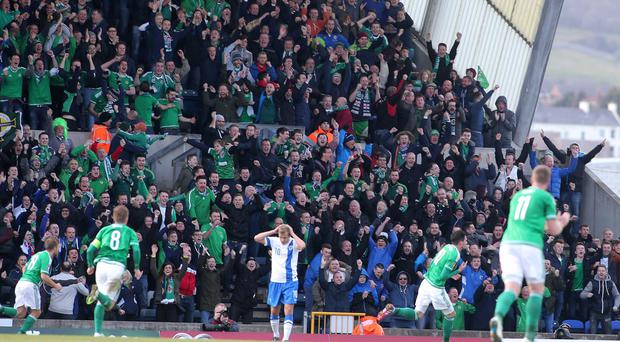 Roar: Kop fans enjoy Kyle Lafferty's goal versus Finland