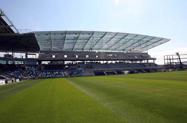 Shaping up: The new-look Windsor is ready to go for Northern Ireland's game against Romania