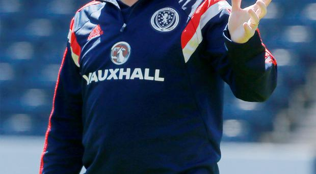 Going for the win: Scotland boss Gordon Strachan says playing for a draw is never in his thinking