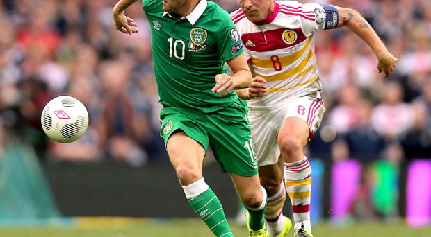 Determined: Robbie Keane is refusing to throw in the towel after the Republic's disappointing draw with Scotland