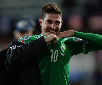 Life and soul: Kyle Lafferty.