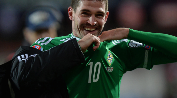 Life and soul: Kyle Lafferty is also good in the dressing room