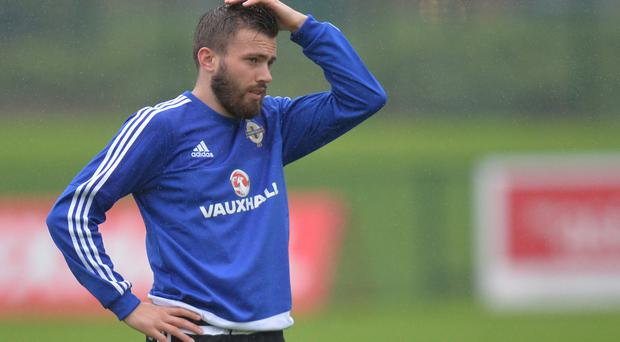 Hungry for glory: Leeds United ace Stuart Dallas says Northern Ireland have the character to get to France next summer