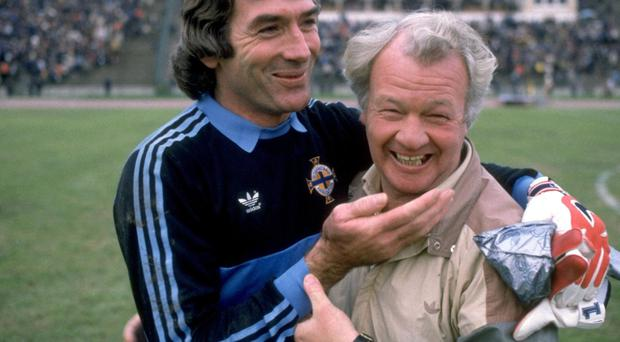 National heroes: Pat Jennings with Billy Bingham