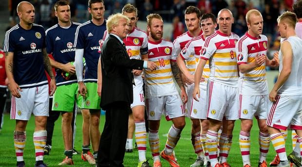 No word: Gordon Strachan refused to confirm he will be staying