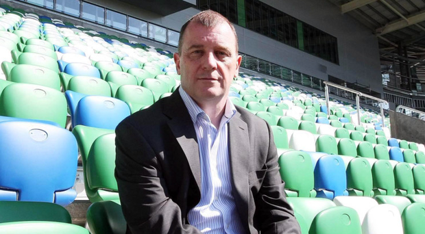 United we stand: IFA chief executive Patrick Nelson says Northern Ireland's historic qualification for the Euro 2016 finals in France will bring the people of the province together
