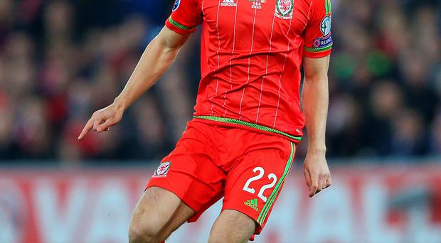 File photo dated 13-10-2015 of Wales' Tom Lawrence PRESS ASSOCIATION Photo. Issue date: Wednesday November 11, 2015. Young Wales striker Tom Lawrence hopes manager Chris Coleman's faith in youth will carry him all the way to France next summer. See PA story SOCCER Wales. Photo credit should read David Davies/PA Wire.