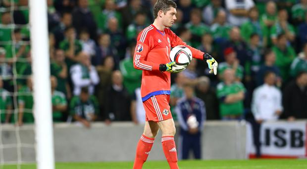 Number one: Northern Ireland 'keeper Michael McGovern