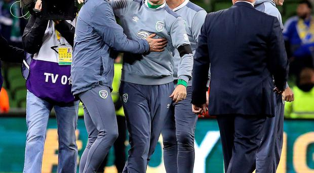Upbeat: Martin O'Neill was delighted for the fans
