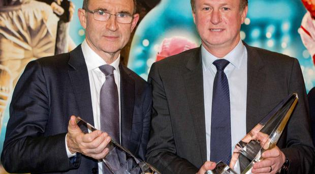 Main men: Republic of Ireland boss Martin O'Neill earns a reported £1m per year while Michael is set to sign a new deal