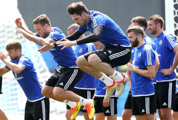 New heights: Kyle Lafferty has revealed that he has never prepared for a game as well as he has for Northern Ireland's clash against Poland in Nice