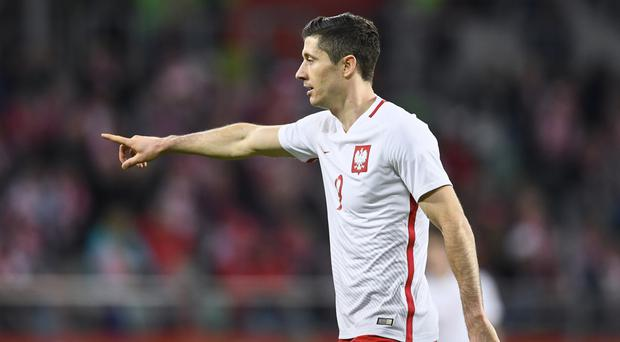 Dangerman: Striker Robert Lewandowski is Poland's main threat