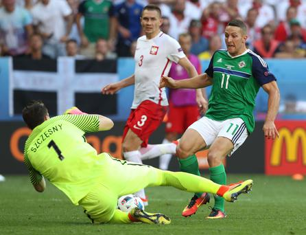 Dangerman: Conor Washington is always a threat in attack